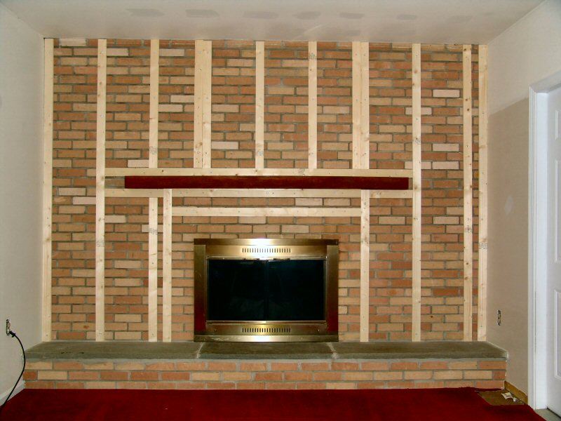 Cover With Drywall Fireplace Facelift Pinterest